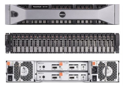 "NEW Dell PowerVault MD1220 SAS Storage Array 12x 600GB 15k 2.5"" Dual Controllers"